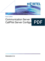 NN44200-312 01.10 Configuration CS1000andCallPilotServer