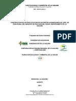 Proyecto Construccion de Estufas Ecologicas