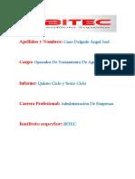 Tecnologica de Alimetos 5 Ciclo y 6 Ciclo ANGEL JOEL CANO DELGADO