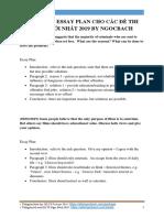 Tổng Hợp Essay Plan Cho Các Đề Thi Ielts Mới Nhất 2019 by Ngocbach