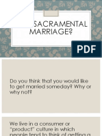 why sacramental marriage