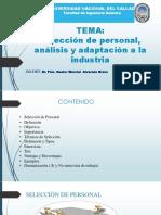 Selección de personal, análisis y adaptación a la industria.pptx