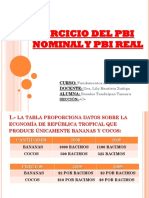 Ejercicio Del Pbi Nominal y Pbi Real