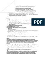 Equipment Used in PArenteral - Written Report