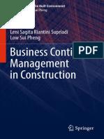 (Management in the Built Environment) Leni Sagita Riantini Supriadi,Low Sui Pheng (auth.) -  Business Continuity Management in Construction-Springer Singapore (2018).pdf