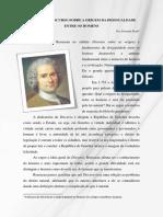 Rousseau - A Desigualdade Entre Os Homens