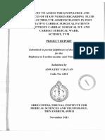 Cardio Vascular and Thoracic Nursing