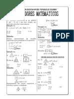 Problemas Propuestos de Operadores Matematicos III Ccesa007