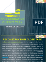 Focus on Grammar through collaborative output