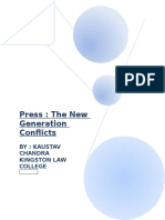 Paper Presentation on Press the New Century Conflicts