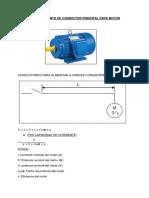 Dimensionamiento de Conductor Principal Para Motor