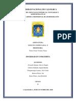 Sociedad en Comandita - Derecho Empesarial II
