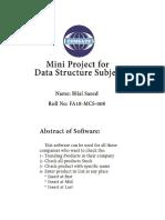 Mini Data Structure Project