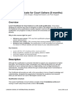 Level 2 Certificate for Court Ushers (9 months)