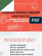 7 Prinsip Desain Arsitektur Mesjid Teuku Umar ( Klp.2)