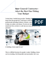 Tzvika Diner General Contractor - How to Select the Best One Fitting Your Budget