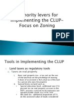 Authority Levers for Implemeting the CLUP- Focus on From Mam Ann