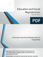 Education and Social Reproduction