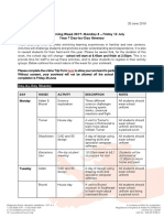 2019-06-20 Year 7 WLW Itinerary