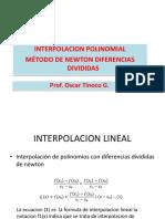Interpolacion Newton Dif Divididas 2016