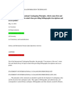 Which of International Cataloguing Principles Comes First