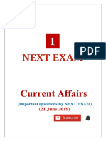 21 June 2019 Current Affairs by NEXT EXAM