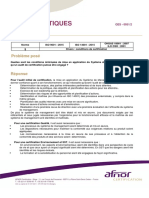Conditions Minimales de Mise en Application Du Système de Management