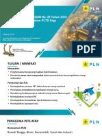 Penggunaan Sistem PLTSA Oleh Konsumen PLN