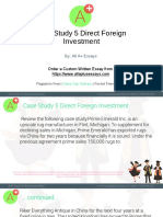 Case Study 5 Direct Foreign Investment