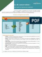 Guide de conservation de fruits et légumes