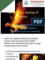 Flammability Testing of Fabrics by Govardhana Rao Chilukoti