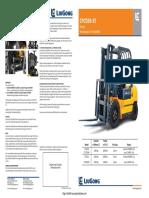 LiuGong CPCD30-35 Forklift Brochure