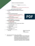 127486380 Examen de Contaminacion Ambiental PDF