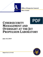 CYBERSECURITY MANAGEMENT AND OVERSIGHT AT THE JET PROPULSION LABORATORY