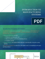 Introduction to Manufacturing Systems