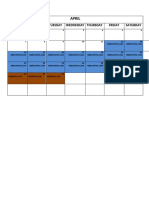 Review Schedule Marked