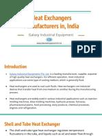 Heat Exchangers Manufacturers in, India