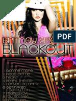 ENCARTE Britney Spears Blackout Digital Booklet