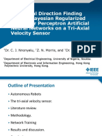 Acoustical Direction Finding Using a Bayesian Regularized Multilayer Perceptron Artificial Neural Networks on a Tri-Axial velocity Sensor