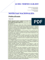 Noticias Del Viernes 21.06.2019