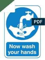 Signs Mustdo Wash Hands