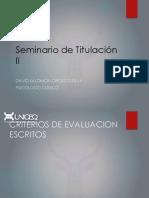 Seminario de Investigacion. Reporte de Investigación y Criterios