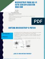 Antenna Patch Para Wifi y Bluetooth-exposicion