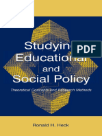 (Sociocultural, Political, And Historical Studies in Education) Ronald H. Heck - Studying Educational and Social Policy_ Theoretical Concepts and Research Methods -Routledge (2004)