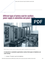 Battery Types Used for Auxiliary Power Supply in Substations and Power Plants