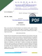016 Manifiesto Etica y Masoneria 12jun2019