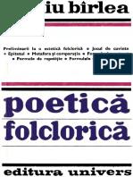 Bîrlea, Ovidiu - Poetică folclorică (1979, Univers).pdf