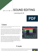 sound editing learning aim b  2