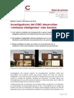 Ventanas Inteligentes Por El CSIC