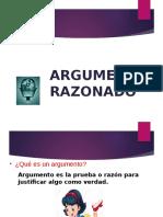El Argumento Razonado Diapositivas
